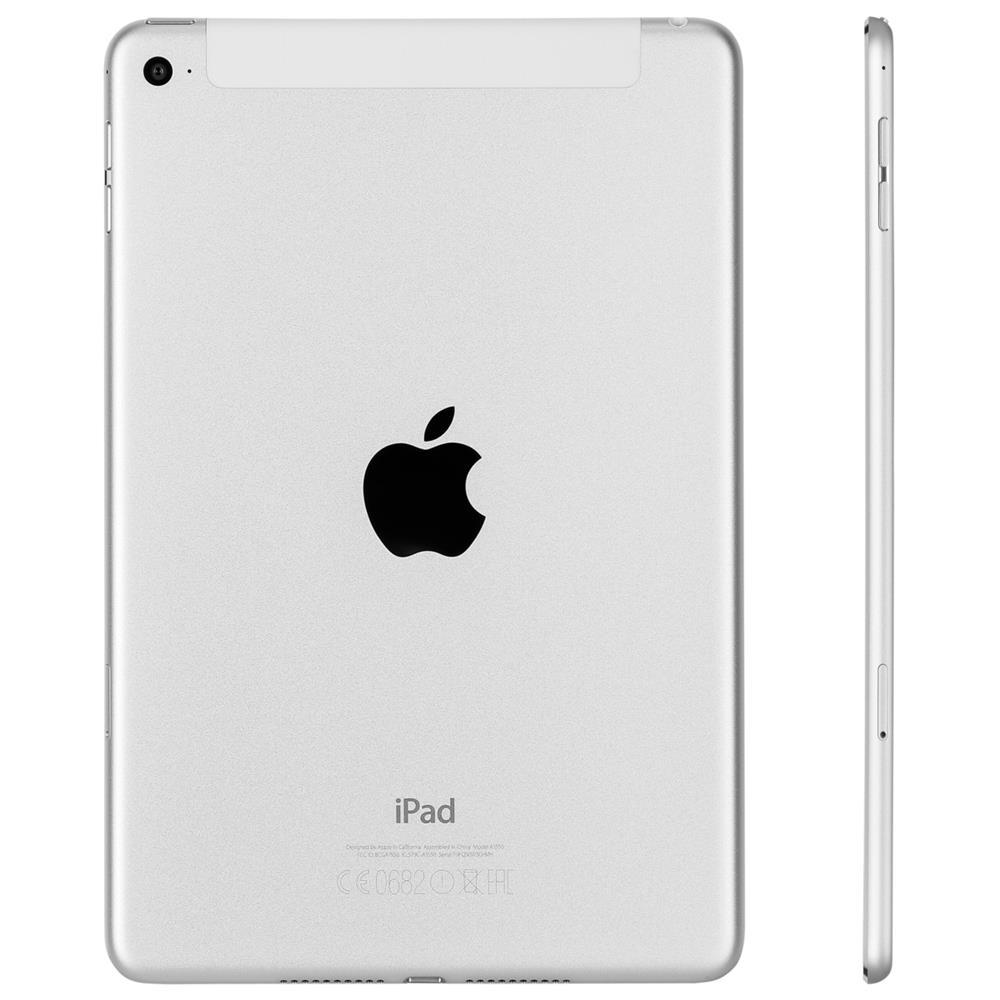 apple ipad mini 4 wi fi cell 128gb silver mk772fd a ebay. Black Bedroom Furniture Sets. Home Design Ideas