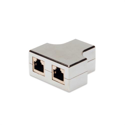 digitus cat5e rj45 splitter y verteiler netzwerk lan isdn adapter patch kupplung ebay. Black Bedroom Furniture Sets. Home Design Ideas