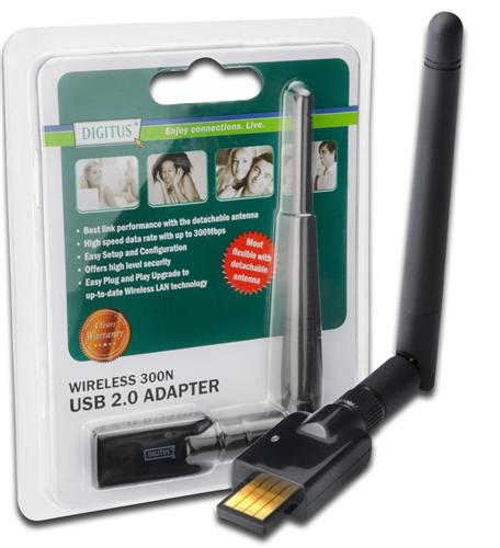DIGITUS-USB-WLAN-Stick-300-Mbit-s-Wireless-LAN-Mini-Nano-Dongle-Antenne