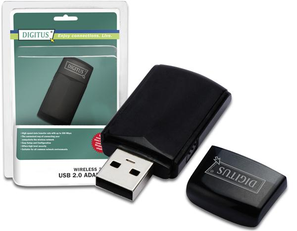 Digitus-WLAN-Stick-USB-Stick-300-Mbit-s-USB2-0-Wireless-LAN-Mini-Dongle-n-draft