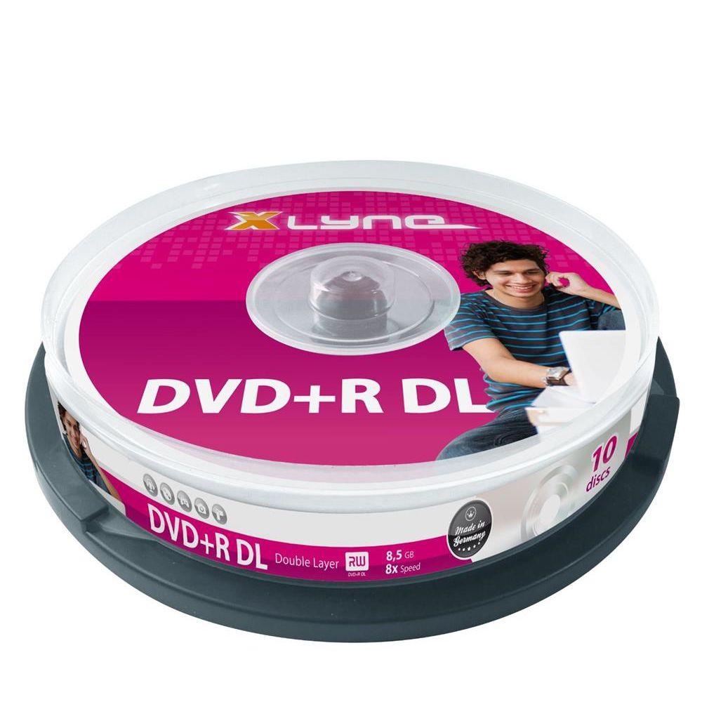 xlyne dvd r dl rohlinge double layer 8 5gb 8x speed 10er. Black Bedroom Furniture Sets. Home Design Ideas