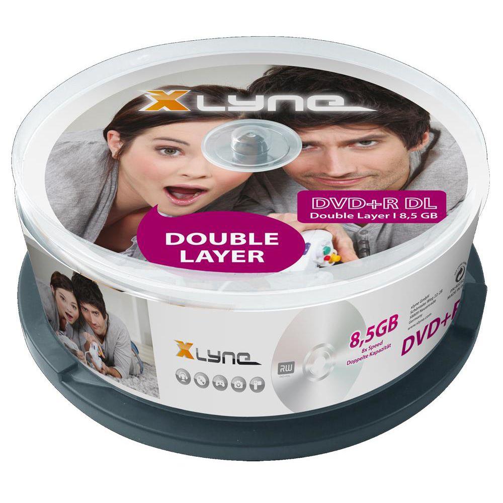 xlyne dvd r dl rohlinge duallayer 8 5gb 8x speed 25er. Black Bedroom Furniture Sets. Home Design Ideas