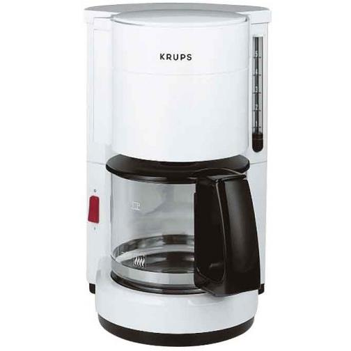 krups f 183 76 filterkaffeemaschine 5tassen weiß  ~ Kaffeemaschine Heißbrühsystem
