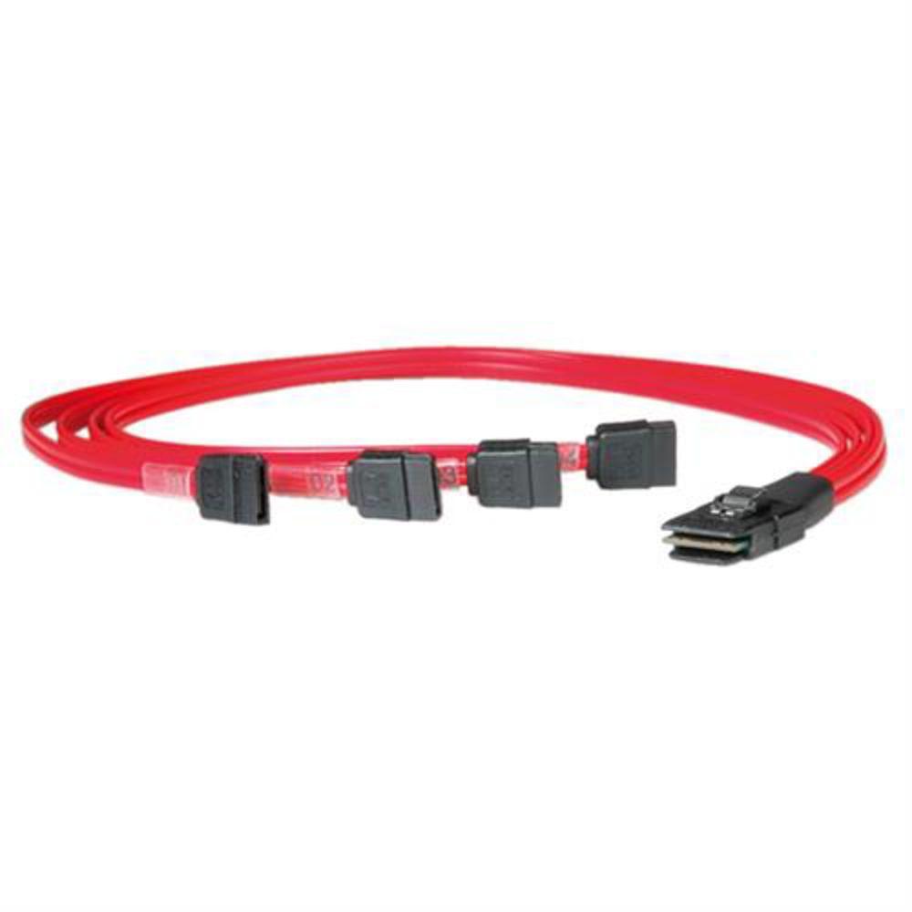 ROLINE-SAS-Kabel-Serial-Attached-SCSI-SFF-8087-4x-SATA-0-5m-geschirmt