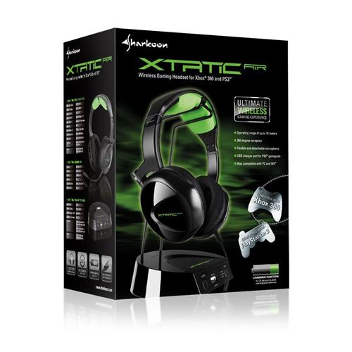 Sharkoon X-TATIC AIR Gaming-Headset PS3 XBOX 360 Wii PC