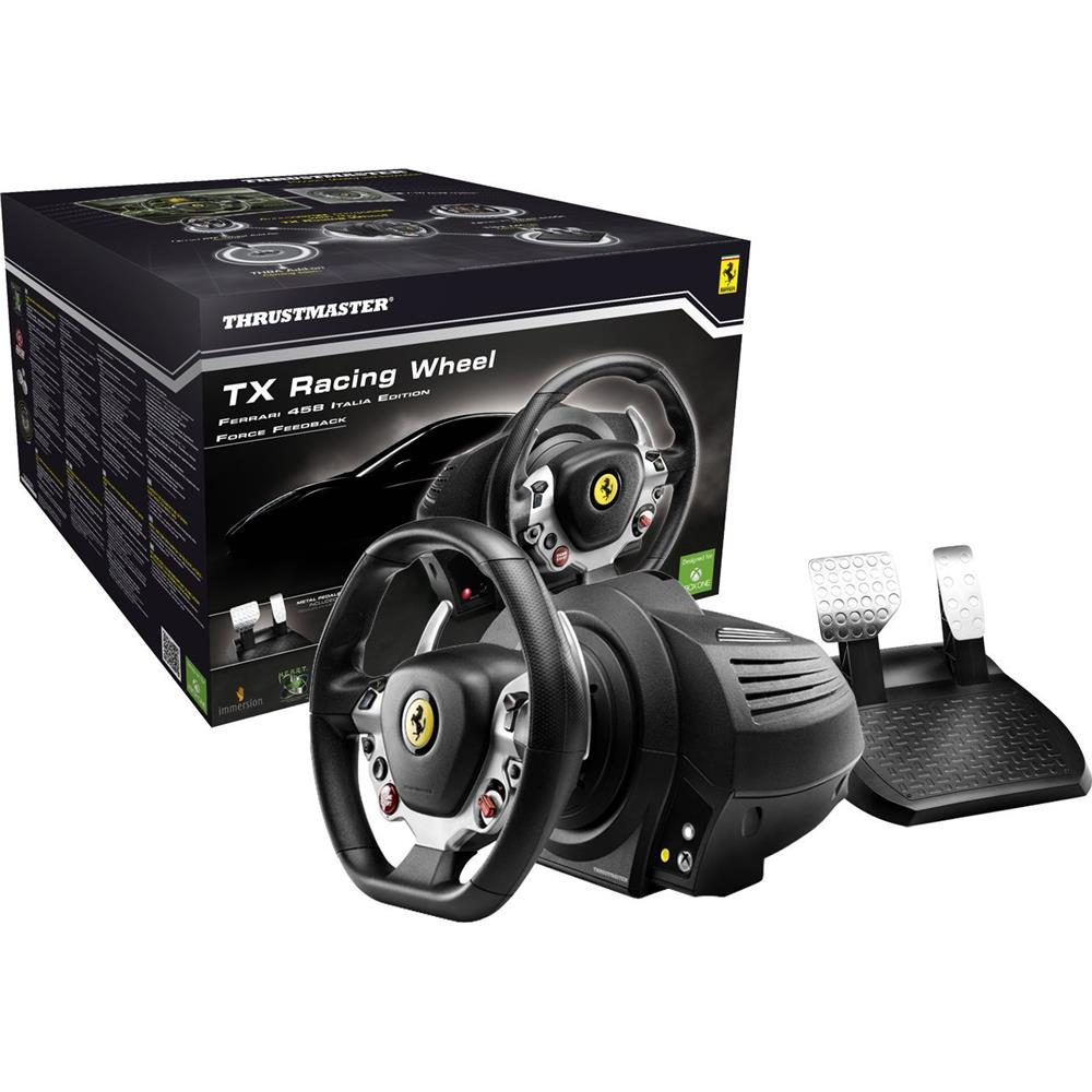 thrustmaster tx racing wheel ferrari 458 xbox one pc. Black Bedroom Furniture Sets. Home Design Ideas