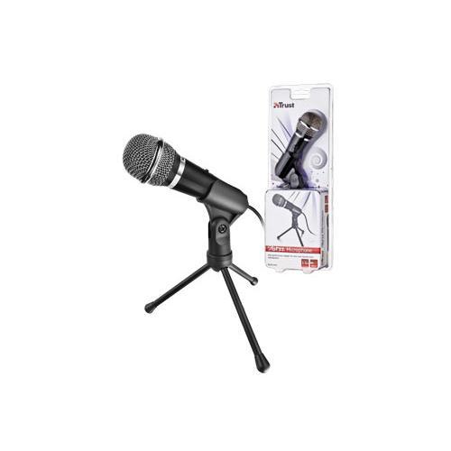 trust starzz microfone microphone 3 5mm klinke mikrofon. Black Bedroom Furniture Sets. Home Design Ideas