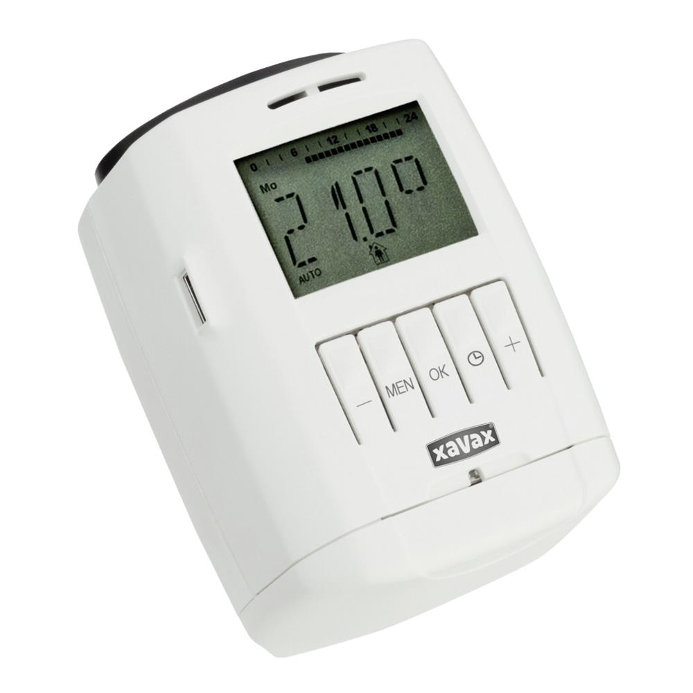 xavax heizk rper thermostat digital ebay. Black Bedroom Furniture Sets. Home Design Ideas
