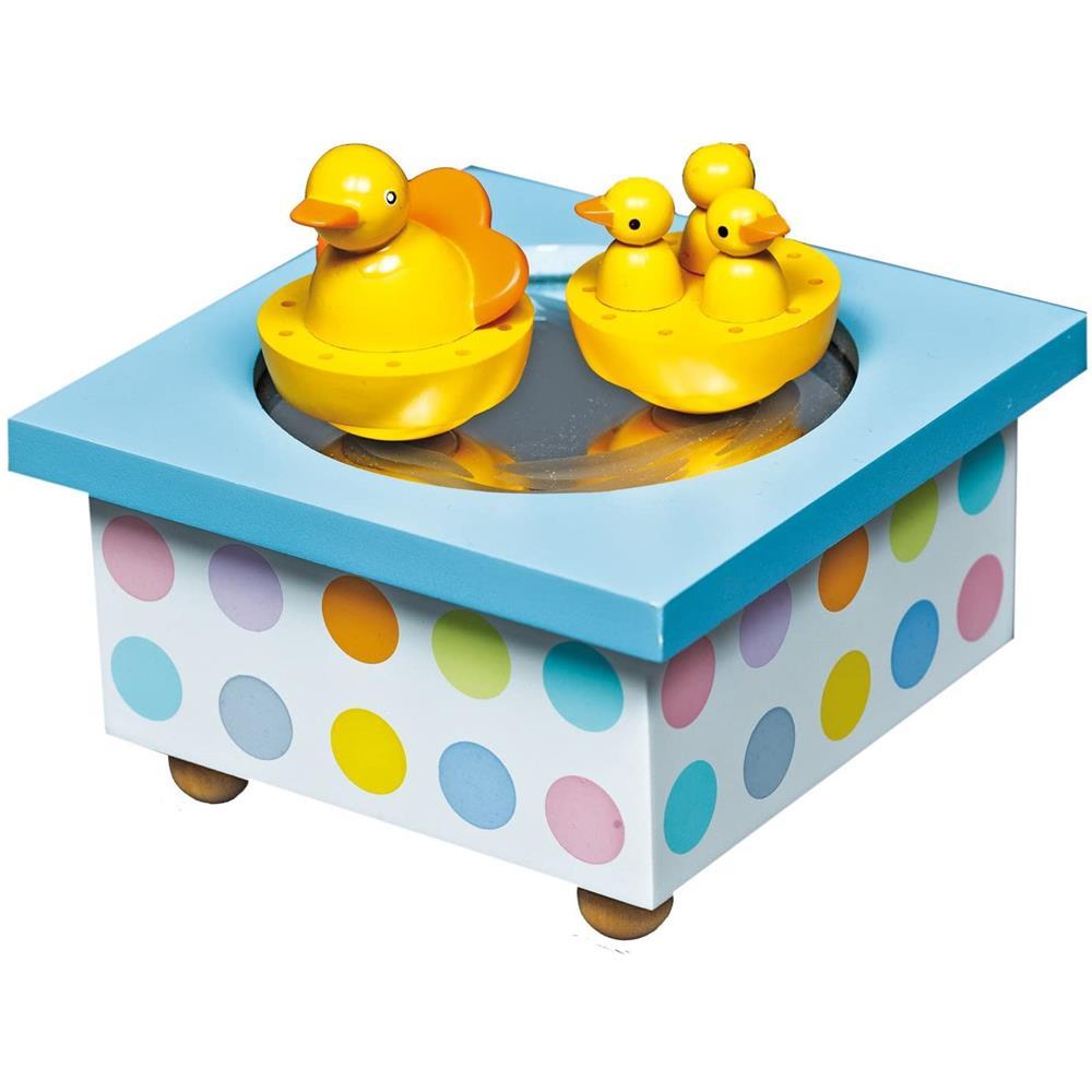 Trousselier S95001 - Holz Spieldose: Tanzende Enten Kinder Spielzeug Schmuck mm