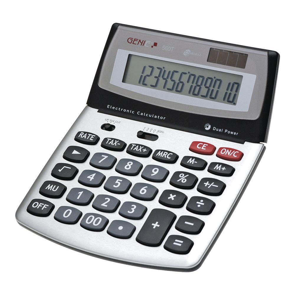 GENIE 840S Solar Tischrechner Rechenmaschine Rechner Bürorechner Taschenrechner