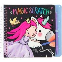 Depesche 11413 Malbuch Mini Magic Scratch Princess Mimi 20 Seiten mit vorgezeichneten Kratzlinien und Kratz