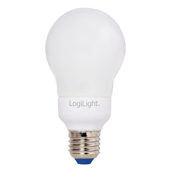 LogiLight Energiesparlampe 9 Watt E27 Bulb warmweiss