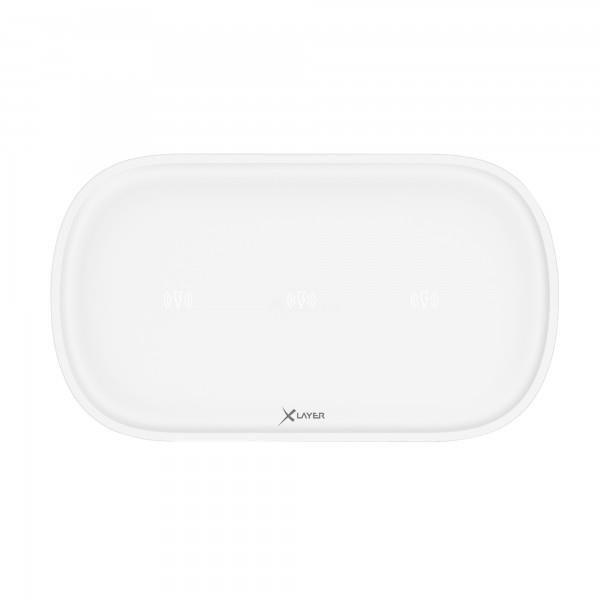 XLayer Ladegerät Wireless Charging Pad Family Triple White Smartphones/Tablets