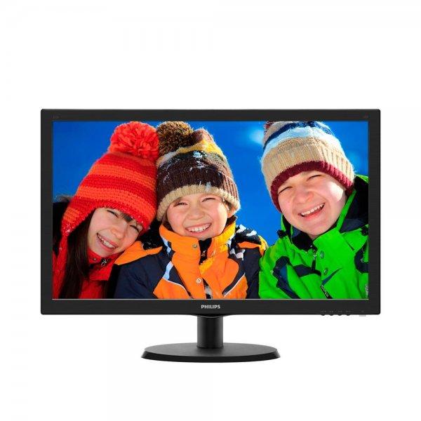 Philips 223V5LSB 54,6 cm 22 Zoll Monitor Full HD DVI 5ms SmartControl Lite Schwarz