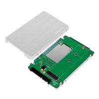 """LogiLink Externes SSD Gehäuse 2,5"""" M.2 NGFF SATA Aluminium Festplattengehäuse"""