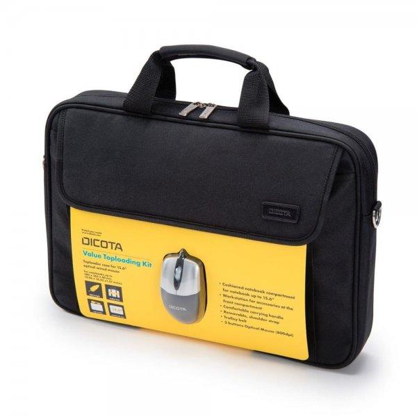 "Dicota D30805 Value Toploading Kit mit Maus Notebooktasche 39,6 cm 15,6"" schwarz"