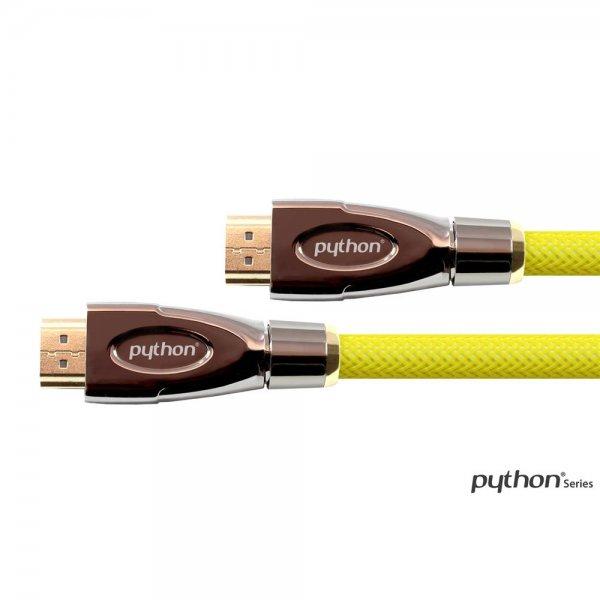 PYTHON® Anschlusskabel HDMI Kabel Ethernet Gelb 2 m