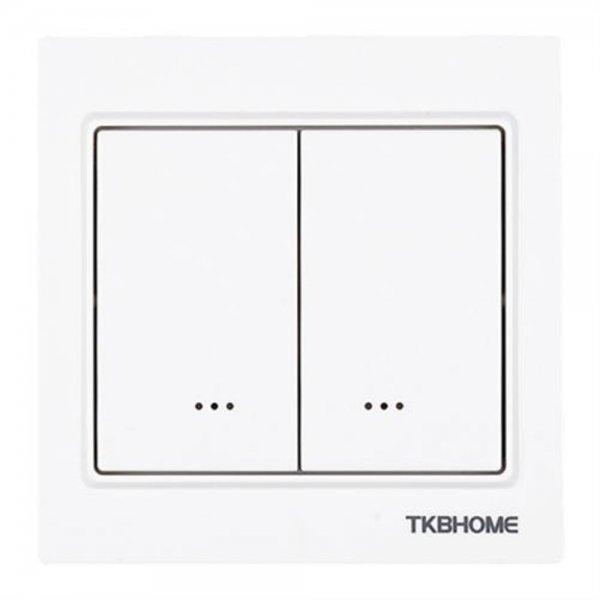 TKB Home Doppelrelais Wandschalter eckig | Z-Wave Plus