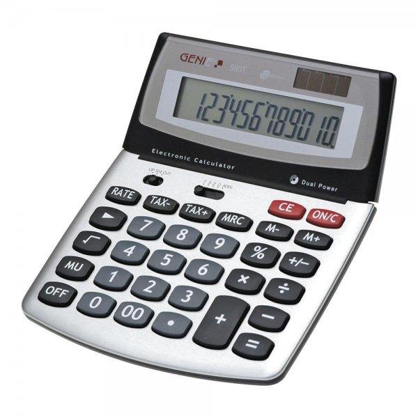 GENIE Tischrechner 560 T Dual Power Solar Batterie Bürorechner 12 stelliger Taschenrechner