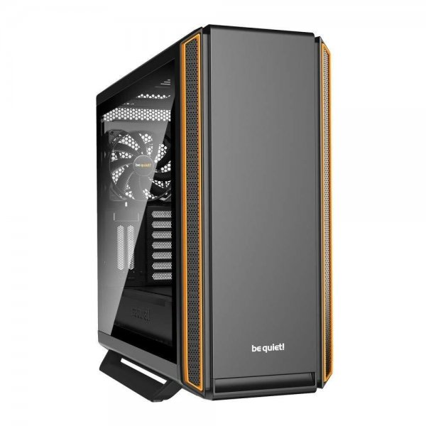 be quiet! SILENT BASE 801 Window PC Gehäuse Orange BGW28 mit Seitenfenster