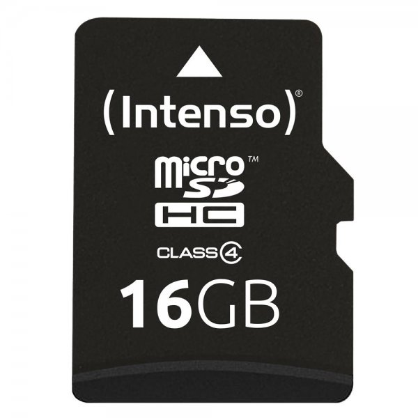 Intenso 16GB microSD Karte Class 4 Speicherkarte