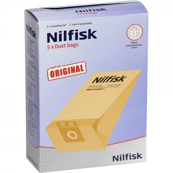 Nilfisk Original 82222900 Staubbeutel 9,5l 5 Stück Staubsauger CDB 3000 Zubehör