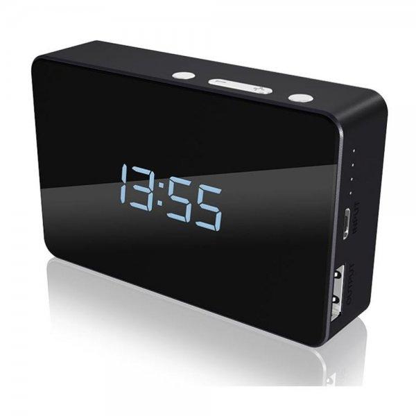 ICY BOX IB-PBa5000 Powerbank 5000 mAh Ladegerät Uhr Wecker Thermometer Kalender