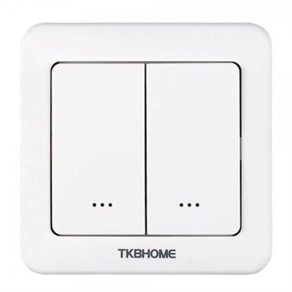TKB Home Doppelrelais Wandschalter abgerundet | Z-Wave+