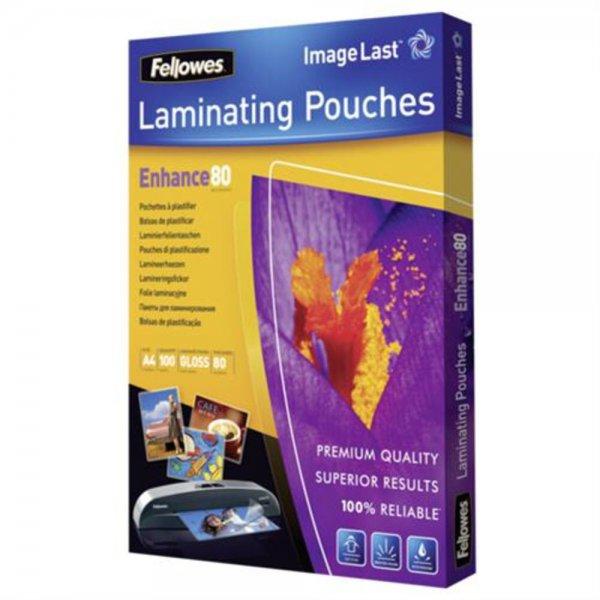 Fellowes ImageLast Laminierfolien 80 Mikron DIN A4 100 Stück transparent