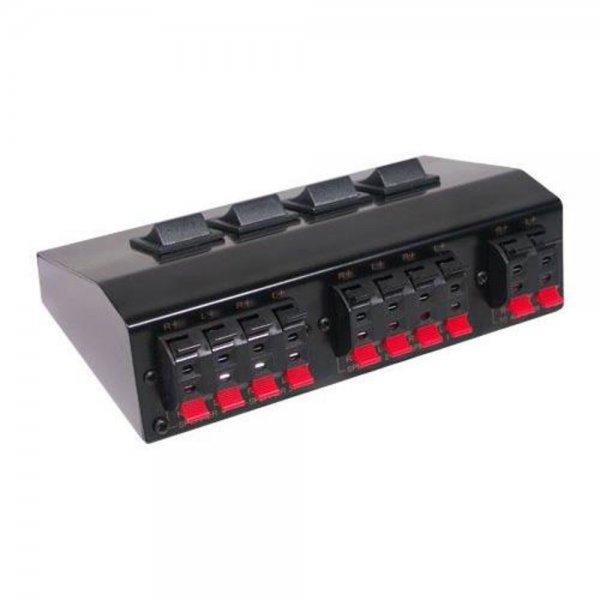 Lautsprecher Umschaltbox für bis zu 8 Lautsprecher Metallgehäuse # 5529