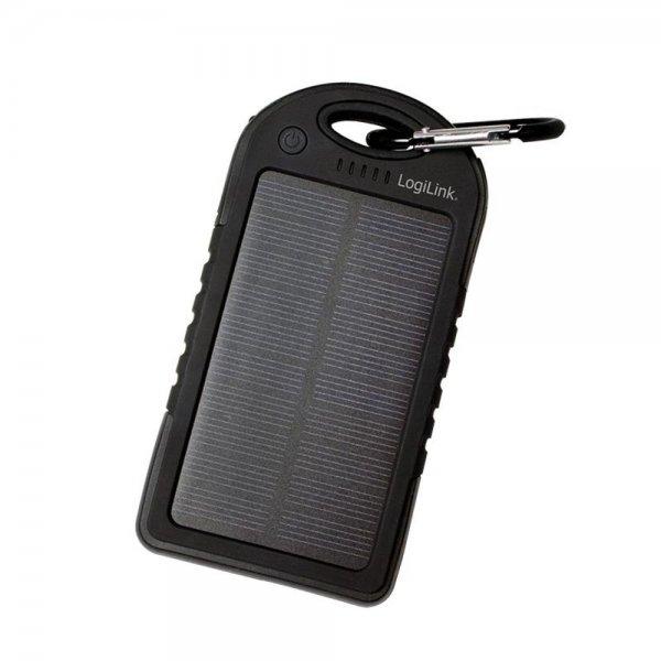 LogiLink PA0132 Universal Solar Ladegerät 5000 mAh 2x USB-Port