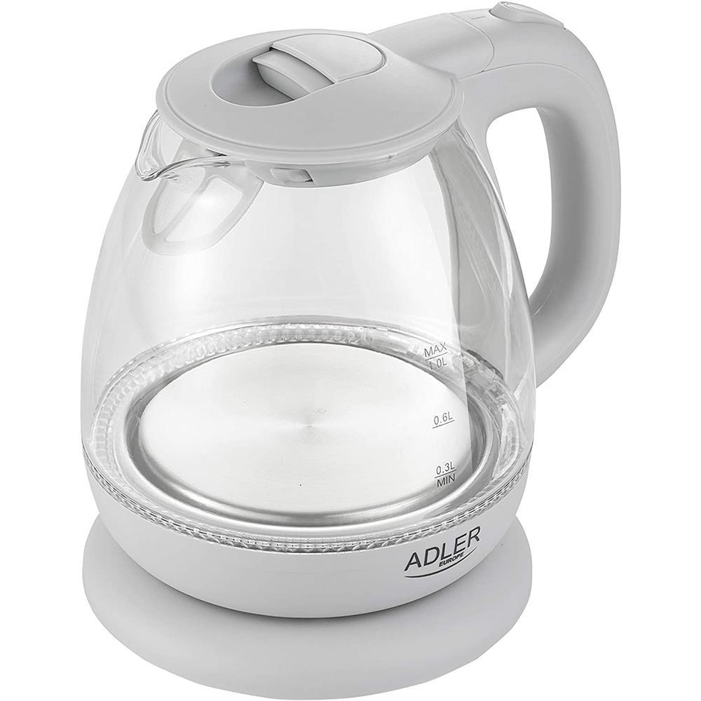 Indexbild 3 - Adler AD 1283G Glas Wasserkocher 1 L LED Beleuchtung Krug Optik Design kabellos