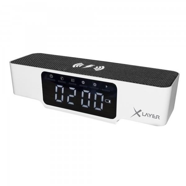 XLayer Ladegerät Wireless Charging Alarm Clock White Smartphones/Tablets