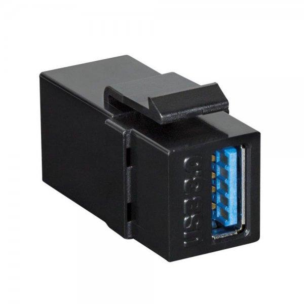 LogiLink NK0015B Keystone Modular Verbinder USB-A 3.0 Buchse -> Buchse schwarz