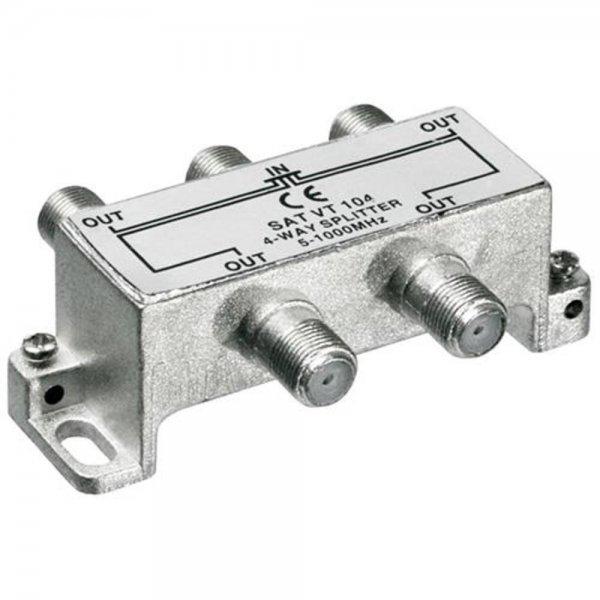 Wentronic SAT VT 104 BK-Verteiler 4-fach 5-1000 MHz # 67021
