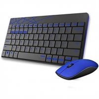Rapoo 8000M kabelloses optisches Tastatur-Maus-Set Schwarz/Blau