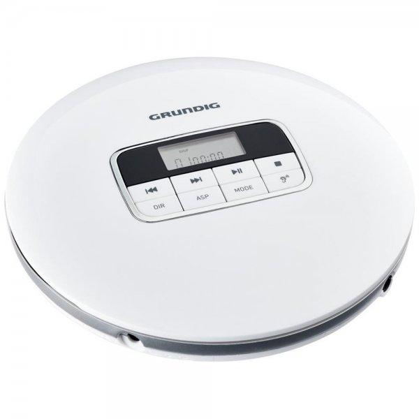 Grundig GCDP 8000 Tragbarer CD-Player weiß/silber