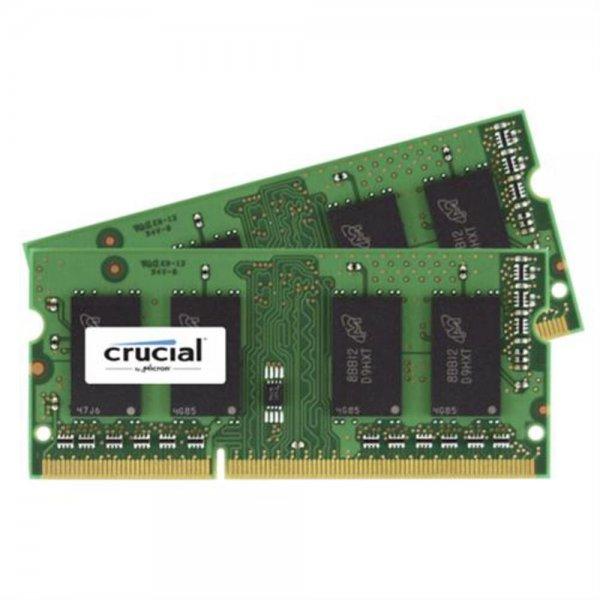 Crucial 4GB DDR3 1600 MT/s Kit 2GBx2 SODIMM 204pin CL11 RAM NEU OVP
