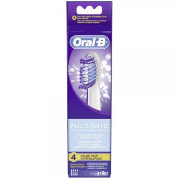 Braun Oral-B Aufsteckbürsten Pulsonic 4er für Pulsonic Zahnbürsten