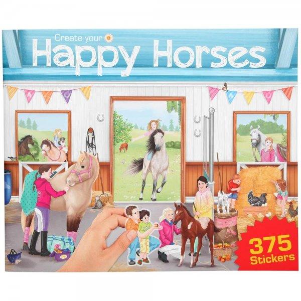 Depesche 10747 Malbuch Create Your Happy Horses Sticker ca. 30 x 24,5 x 0,7 cm