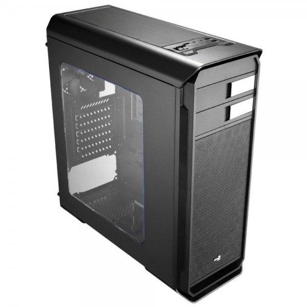 Aerocool Aero 500 Case Midi Tower PC Case Gehäuse Window Seitenscheibe Schwarz
