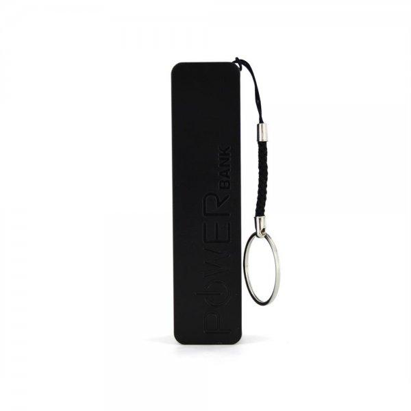 XLayer 2600mAh Powerbank Colour Line Schwarz USB Extern Zusatzakku LED-Anzeige