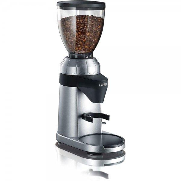 Graef elektrische Kaffeemühle CM 800 Silber Espressomühle Kegelmahlwerk