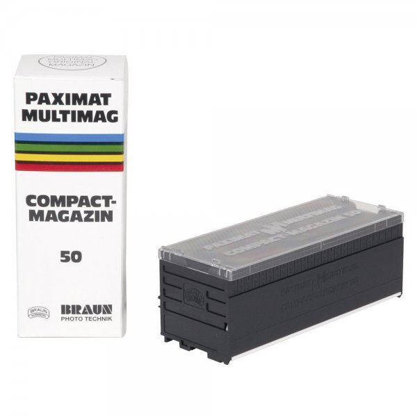 BRAUN Paximat-Multimag Diamagazin für 50 Dias 2 mm Stärke dunkelgrau Compact-Magazin