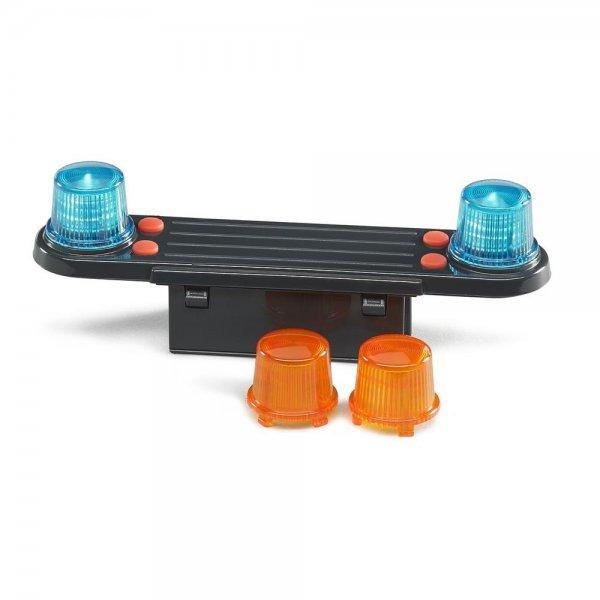 Bruder 02801 Licht und Sound Modul Zubehör für Spielzeugauto 1:16 Feuerwehr Baufahrzeug Blinklicht Geräusche Abschaltautomatik