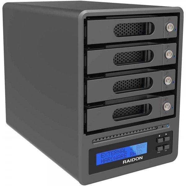 "RAIDON GR5640-SB3 Externes RAID Gehäuse für 4x 2,5"" oder 3,5"" HDD/SSD"