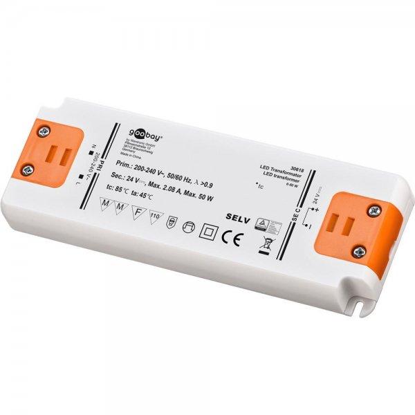 Goobay slim LED-Transformator DC-Betrieb 24 V DC Ausgangsspannung # 30618