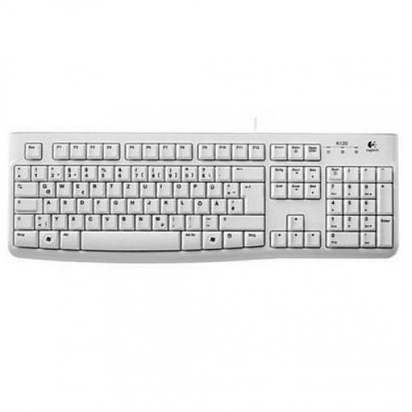 Logitech K120 Business Tastatur weiß USB 1,5m Deutsch