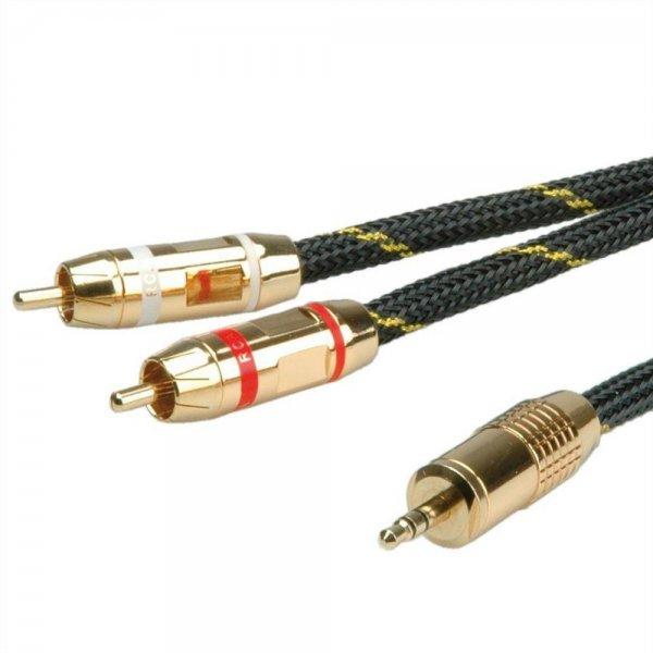 ROLINE GOLD Audio-Verbindungskabel Klinke/Cinch 2,5 m