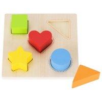 Goki Formen Farbensortierbrett Kinder Motorik Holzspielzeug Tastspiel Lernspielzeug